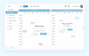 Doctor office appointments management user experience