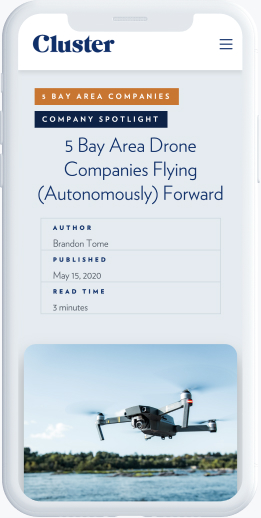 A blog article about 5 bay area drone companies flying forward