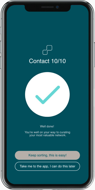 Managing contact groups in mobile app