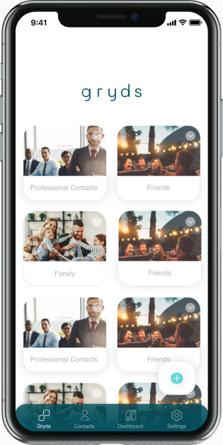Mobile UI for contact import and social account sign in