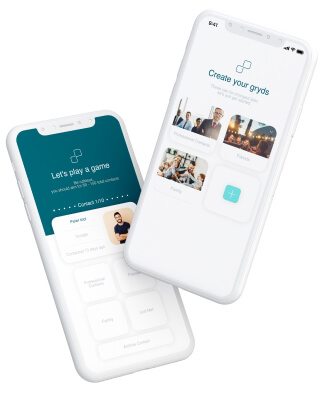 Mobile app for managing contacts