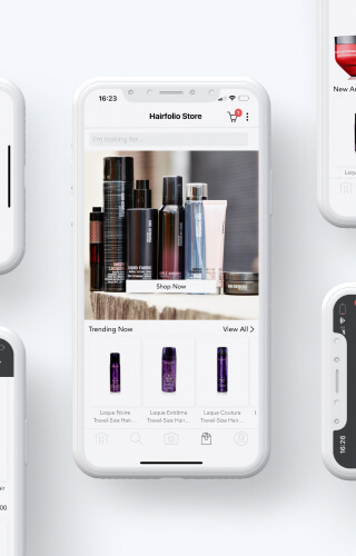 Mobile search results for hair care products