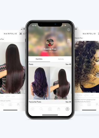 User profile feed with hairstyles posts