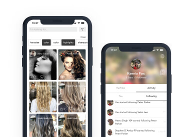 Mobile design for hairstyle app