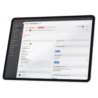 Network vulnerability dashboard