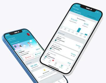Worker earnings statistics in mobile app