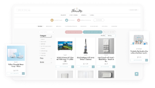 Web application with gift registry service
