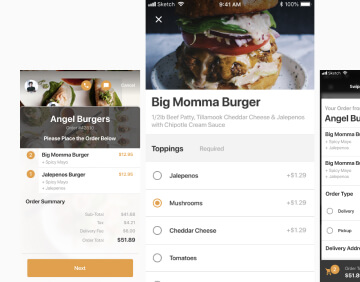 React native food delivery app