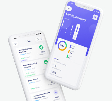 Mobile app to get the most of work gigs